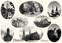 20 Engraved Church PS Brushes abr. Vol.10