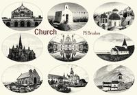 20 Engraved Church PS Brushes abr. vol.11