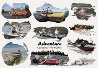 20 Canoeing Adventure PS Brushes abr. Vol.19