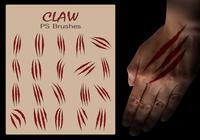 20 Claw Scratch PS Brushes abr. vol.13