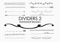 EARMARKED FOR VD Hand Drawn Dividers Photoshop Brushes 2