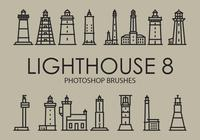 Free Lighthouse Pinceles para Photoshop 8