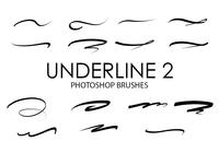 Underline Photoshop Brushes 2