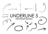 Underline Photoshop Brushes 5