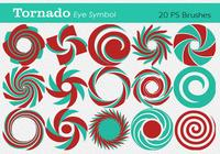 20 Tornado Eye Symbol PS Brushes abr. Vol.9