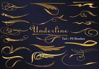 26 Underline Tail PS Brushes abr vol.4