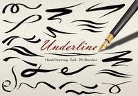 20 Underline Hand Drawing Tail PS Brushes abr vol.5