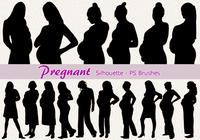 20 Pregnant Silhouette PS Brushes abr.Vol.5
