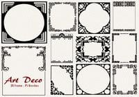 20 art deco frame ps brushes.abr vol.7