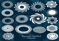 20 Tornado Eye Symbol PS escova abr. Vol.10