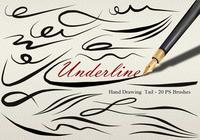20 Underline Tail PS Brushes abr vol.6