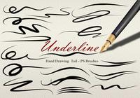 20 Underline Hand Drawing Tail PS Brushes abr vol.7