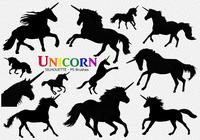 20 Unicorn Silhouette PS Brushes abr. Vol.7