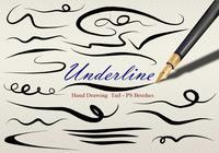 20 Underline Hand Drawing Tail PS Brushes abr vol.8