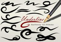 26 Underline Tail PS Brushes abr vol.9
