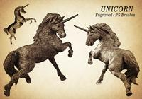 20 brosses PS Unicorn gravées abr. Vol.8
