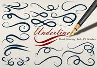 20 Underline Hand Drawing Tail PS Brushes abr. Vol.10