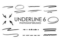Underline Photoshop Brushes 6