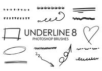 Underline Photoshop Brushes 8