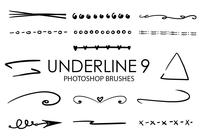 Underline Photoshop Brushes 9