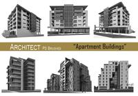 20 Architect - Apartment Buildings - PS Brushes.abr vol.11