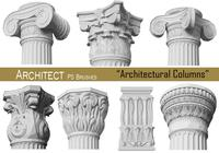 20 Architectural Columns - PS Brushes.abr vol.12