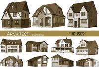 20 maisons d'architectes PS Brushes.abr vol.15