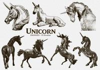 20 Unicorn Engraved PS Brushes abr. Vol.9