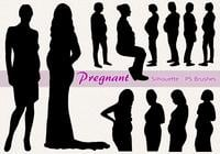 20 Pregnant Silhouette PS Brushes abr.Vol.7