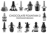 Chocolate Fountain Photoshop Brushes 2