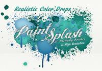 20 Paint Splash PS Brushes.abr vol.7