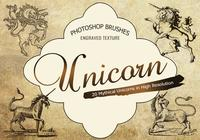 20 Unicorn Engraved PS Brushes abr. Vol.11
