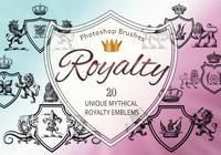 20 Royalty Emblem PS Brushes abr. vol.11