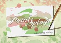 20 paint splash ps brushes.abr vol.2