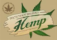20 Hemp Leaf PS Brushes abr. Vol.1