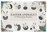 Pascua Animales Photoshop Brushes3