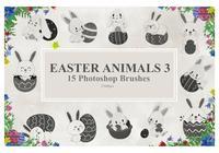 Easter Animals Photoshop Brushes3