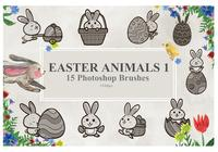 Easter Animals Photoshop Brushes1