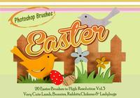20 Easter Animal PS Brushes abr. vol.3