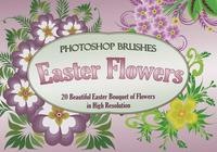 20 Easter Flowers PS Brushes abr. vol.1