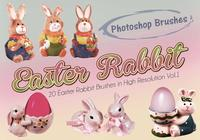 20 Easter Rabbit PS-borstels abr. vol.1