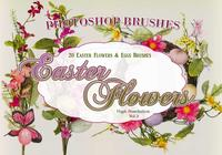20 huevos y flores de Pascua PS Brushes abr. vol.3