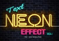 Neon Tekst Effect PSD Vol.1