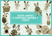 Easter Animals Photoshop Brushes 4