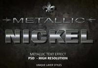 Nickel Metallic Text Effect PSD Vol.3