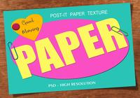 Efeito de texto de papel post-it PSD Vol.2