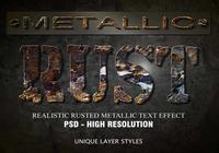 Rusted Metallic Text Effect PSD Vol.5