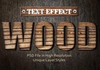 Hout Tekst Effect PSD Vol.2