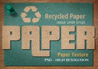 Recycled Paper Text Effect PSD Vol.4