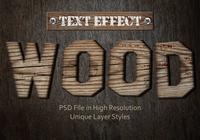 Old Wood Text Effect PSD Vol.3